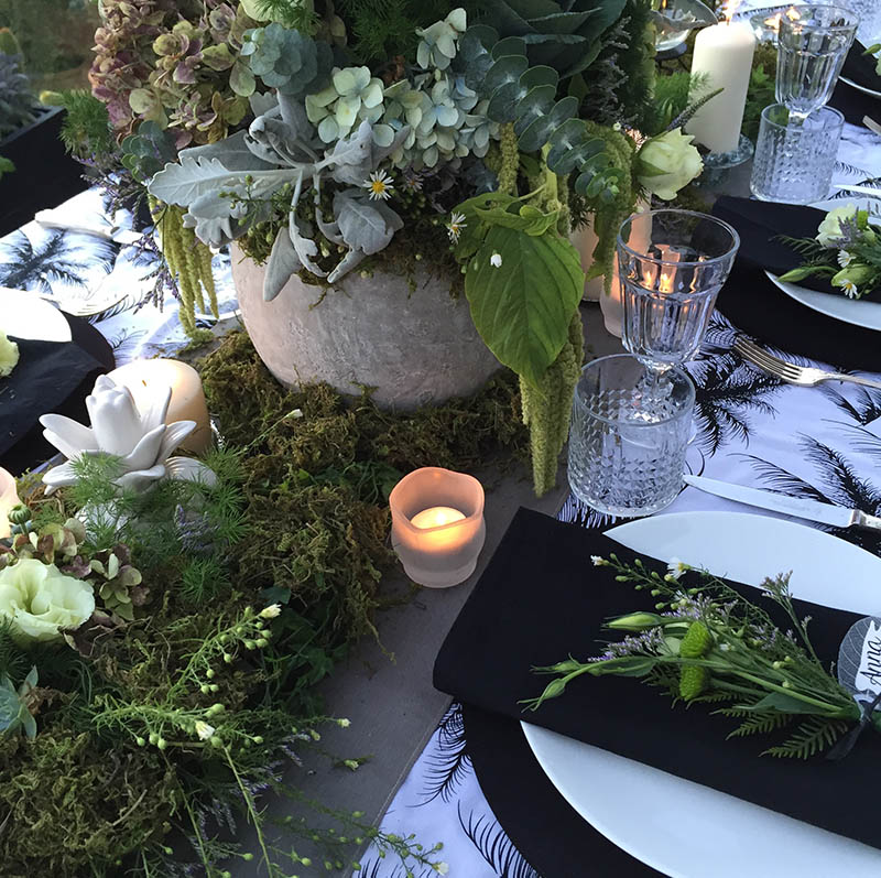 Belco events flowers and table setting